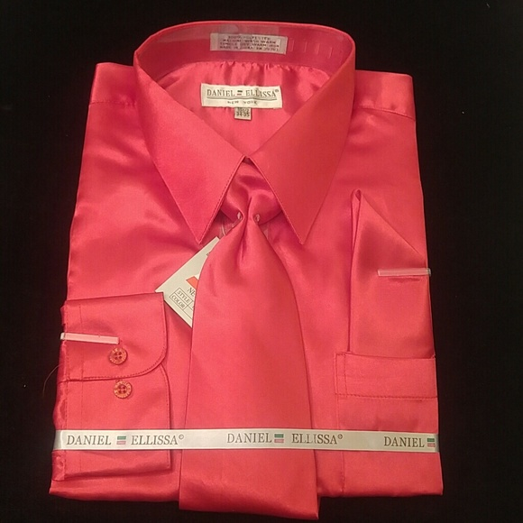 372acacfb DANIEL ELLISSA Shirts | Mens Dress Shirt Red Combo Pack By | Poshmark